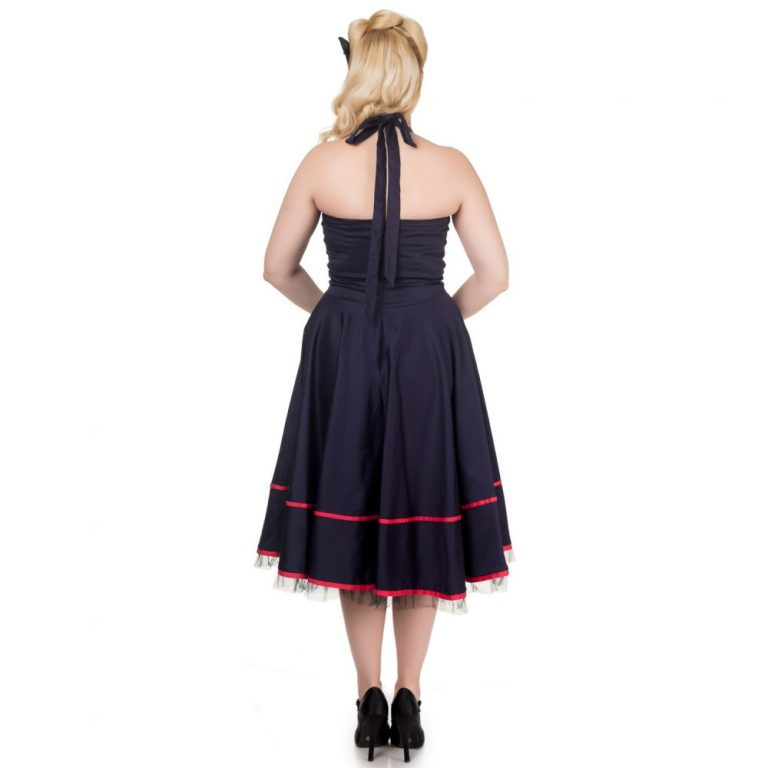 Mandy Dress Navy Blue/red