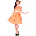 Sophie Dress Dots Peach