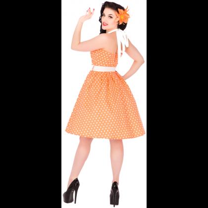 Sophie Dress Dots Peach