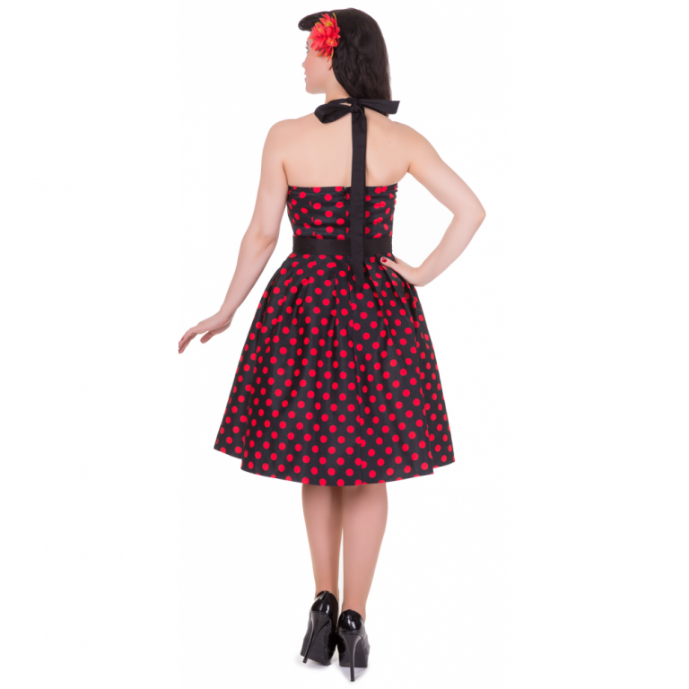 Sophie Dress Dots Black/Red