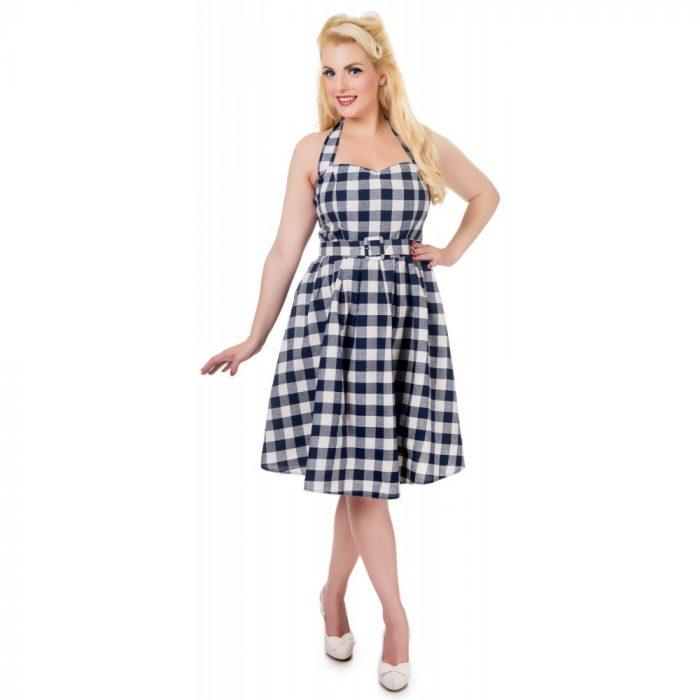 Sophie Dress Checkered Navy