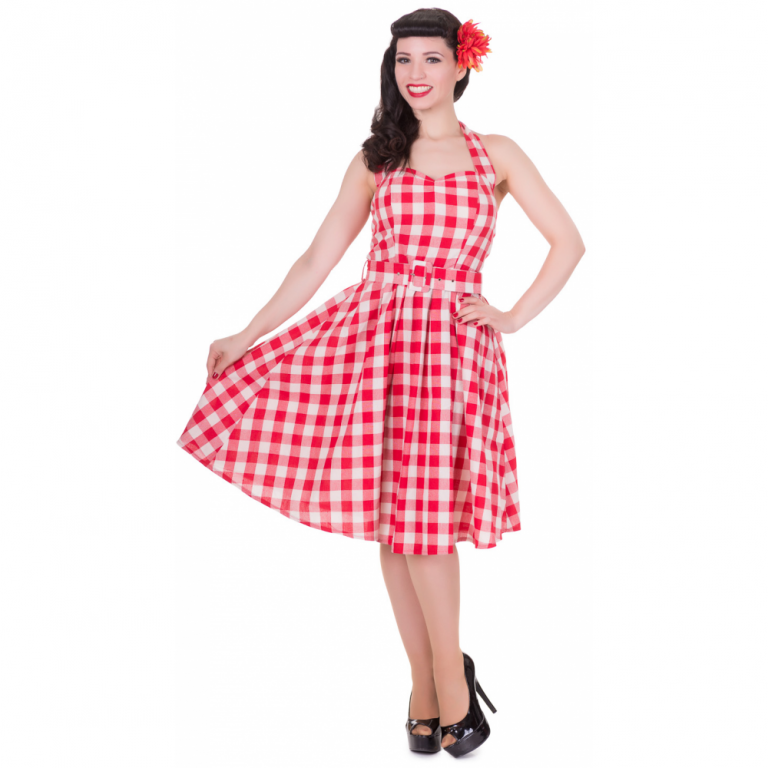 Sophie Dress Checkered Red