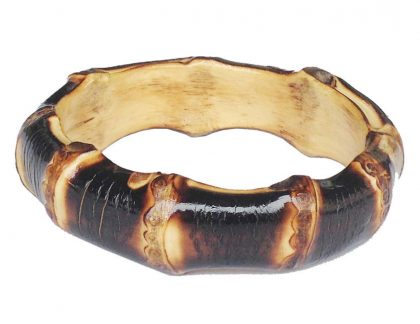 XL Bamboo Bangle (burnt wood)