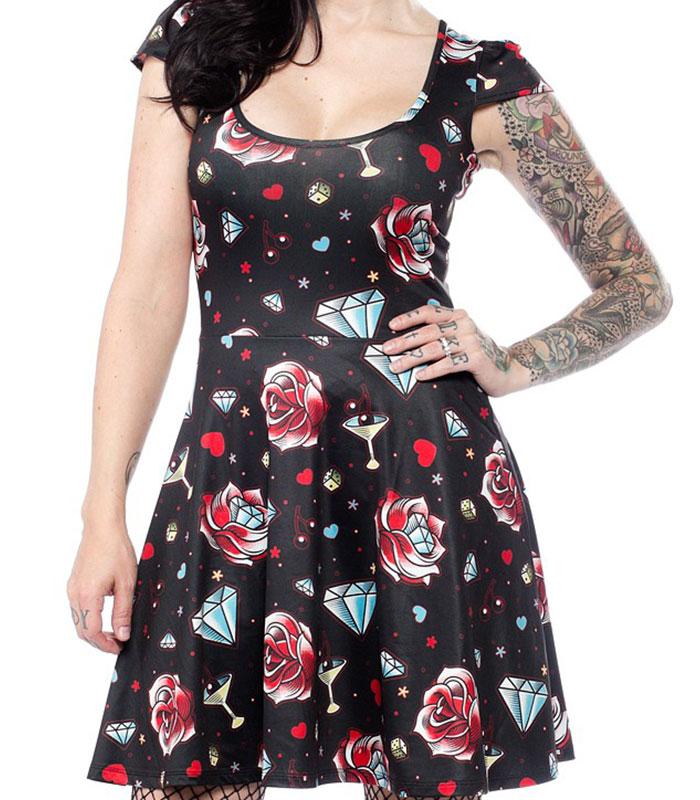 Rockabilly kläder klänning dam