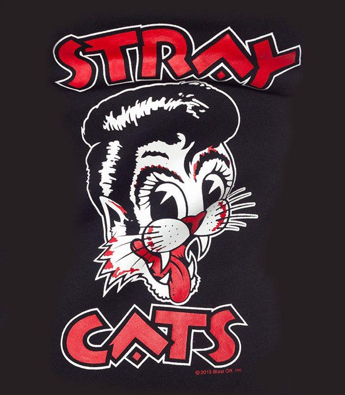 Stray Cats Hoodie Rockabilly kläder dam