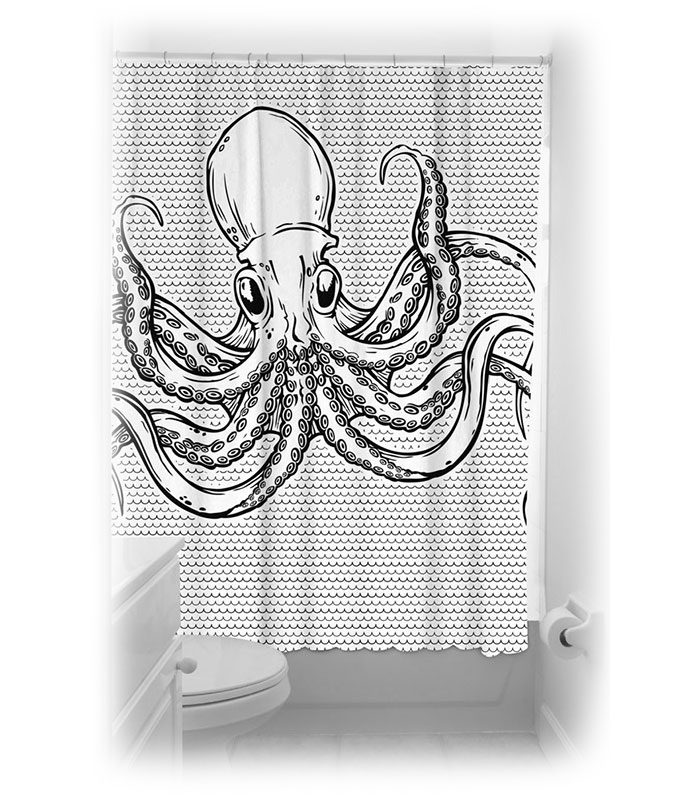 Duschdraperi med cool motiv